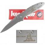 Kershaw Leek Don't Tread On Me Knife