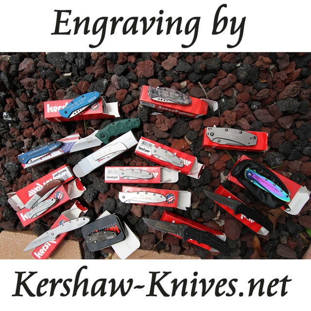 Samples of engraving by www.Kershaw-Knives.net knives kershawknives knife engraving