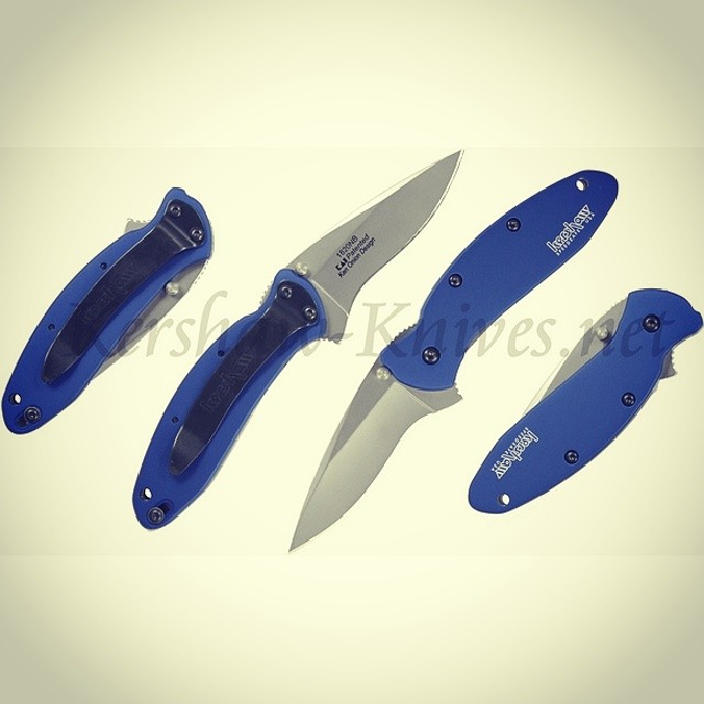This is the Kershaw Scallion Navy Blue Handle 1620NB. Introduced in 2013, this color replaces the normal blue colored handle that was phased out. Perfect candidate knife for your laser engraving, because your text or company logo will burn to a clean, vibrant white color against the navy blue. Available at www.Kershaw-Knives.net Kershaw Kershawknives knife navyblue edc KnifeFriday Knifecommunity custom laser engraving sheath embroidery company logo personalized