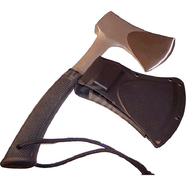 This is the Kershaw Camp Axe 1018, made of dropped forged high carbon steel. Available at www.Kershaw-Knives.net Kershaw Kershawknives camping axe carbon steel hiking outdoors tool KnifeFriday