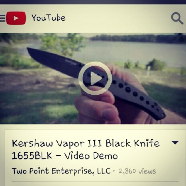 We are on YouTube! Check the Vapor III demo at www.youtube.com/watch?v=btiPWGRrq-c kershaw kershawknives knife vapor video edc tactical youtube knifecommunity knifestagram