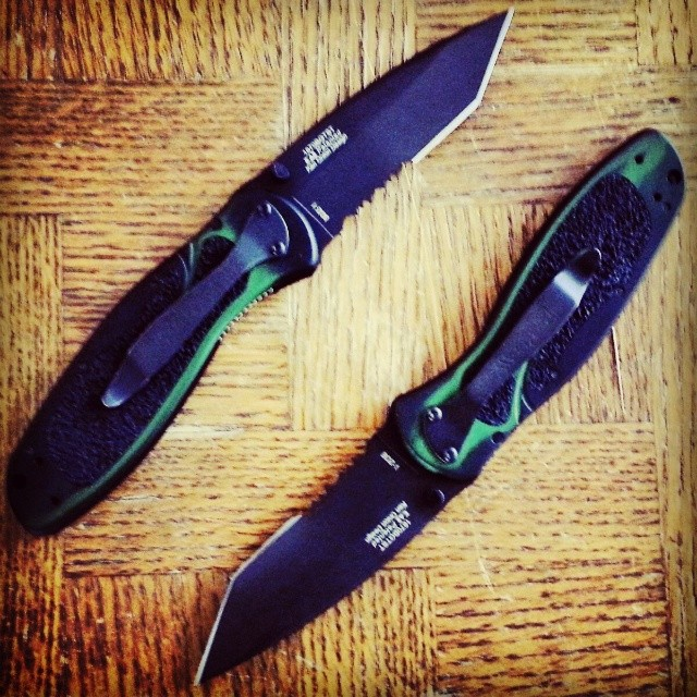 TantoTuesday is upon us! These beauts are the Blur Tanto Black Green Smoke Serrated model 1670BGTST. kershaw tanto knife edc sharp smokey green black knifefanatics knifesociety