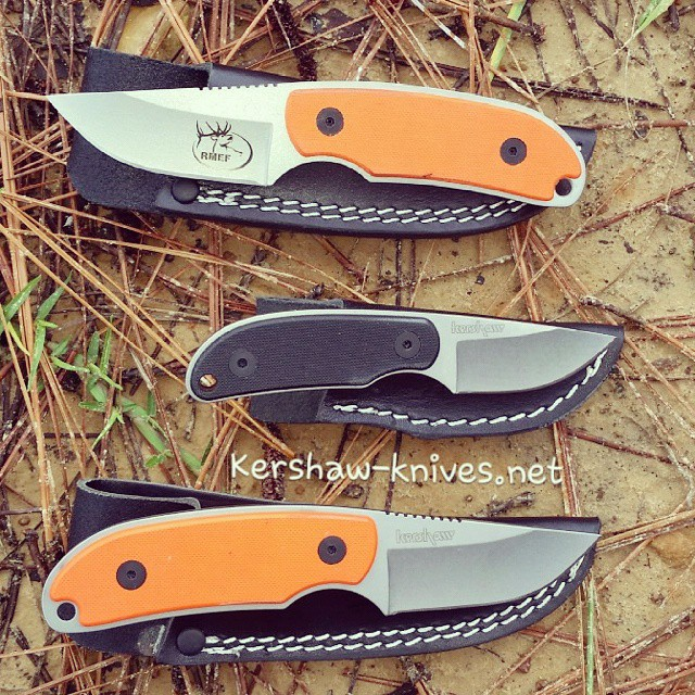 LOOK! With hunting season coming what a better gift than the Kershaw skinner? Find many other skinning knifes on our site. hunting camp orange deer GiftIdeas
