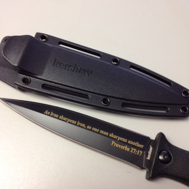 Kershaw Secret Agent with Laser Engraving
