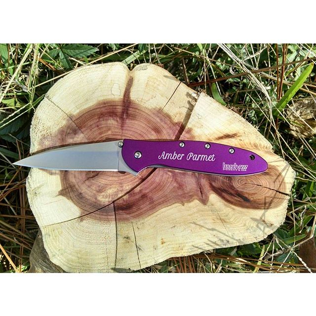 Kershaw Leek Purple Knife 1660PUR