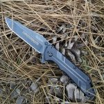 Kershaw Thermite Blackwash 3880BW custom engraved for a good old Southern Boy. God's of War Font was selected. Let us engrave a special Knife for you too. engraving
