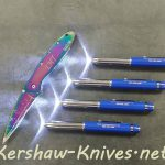 Free LED Flashlight Pen with all orders while supplies last at Kershaw-Knives.net.