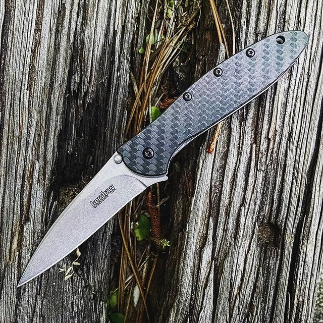 Kershaw Leek 1660CF Knife with Carbon Fiber Handle