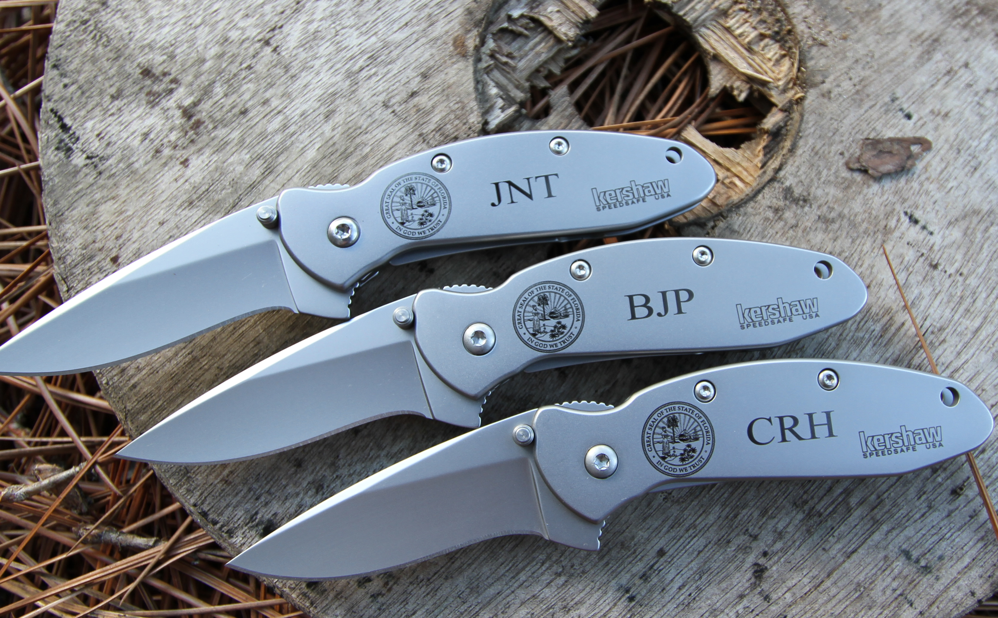 Kershaw Scallion with intricate, detailed Laser Engraving