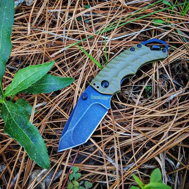 Kershaw Shuffle II Olive Black Wash Tanto Knife 8750TOLBW