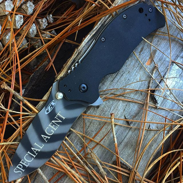 Kershaw Zero Tolerance 0350TS Tigerstripe Knife.  We hope this Special Agent puts this knife to some special tasks- Goodluck! #tigerstripe #0350TS #zerotolerance #kershawknives #secretagen