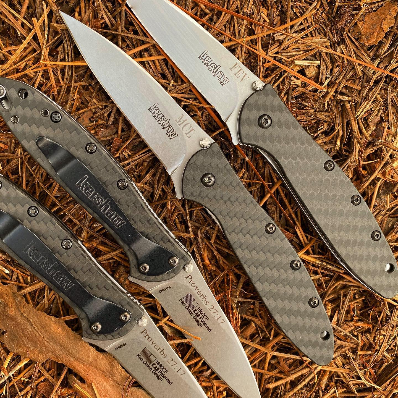 Kershaw Leek 1660CF Knife with Carbon Fiber Handle