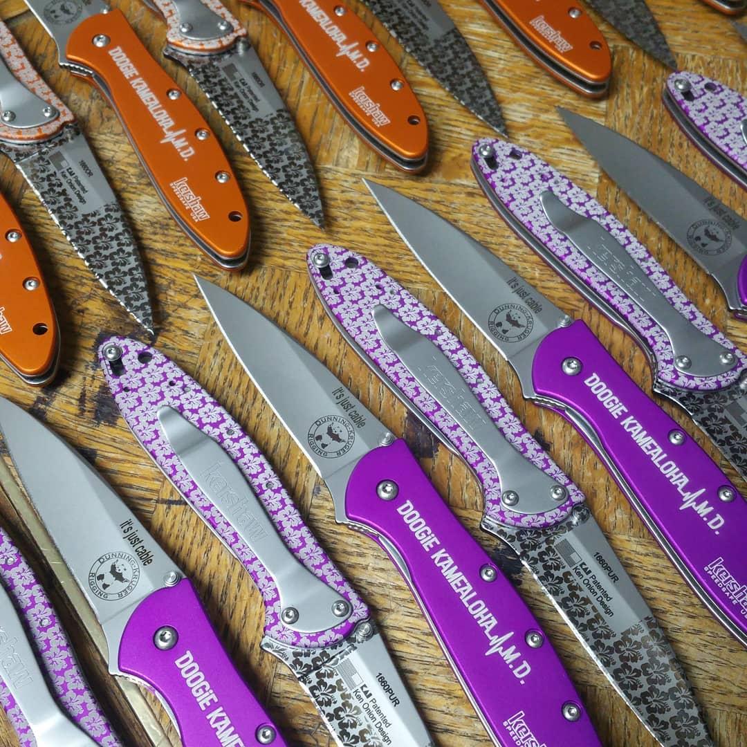 Kershaw Leek Purple Knife 1660PUR