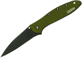 Kershaw 1660OLBLK Leek Olive Drab Black Blade