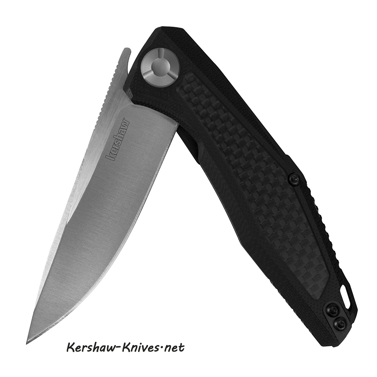 Kershaw 4037 Atmos Flipper Knife with Carbon Fiber Handle
