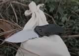 Kershaw Clash Serrated Knife 1605ST Knife Bag Combo