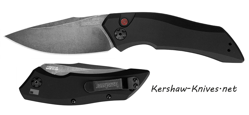 Kershaw Launch 1 7100BW Automatic Knife w/ Blackwashed Blade
